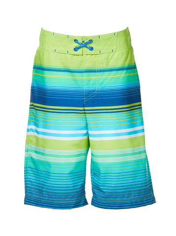 Free Country Little Boys' Ripple Effect HydroFlx Board Shorts - Lime Fizz - 7