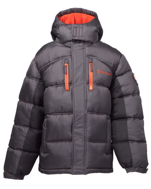 Free Country Little Boys' Summit Puffer Jacket - Charcoal - 4