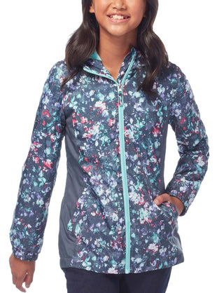 Free Country Little Girls' Cadence Windshear Jacket - Spearmint - S