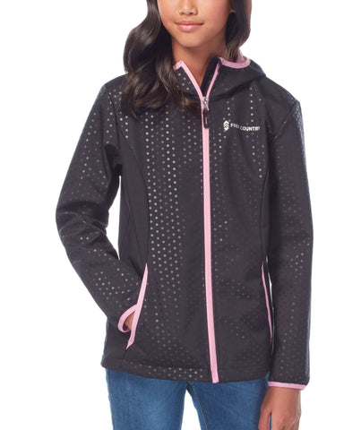 Free Country Little Girls' Chroma Softshell Jacket - Black