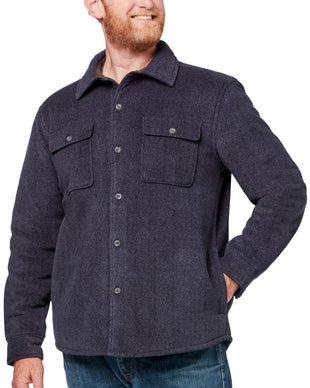 Free Country Men's Adirondack Chill Out Fleece Overshirt - Navy - S
