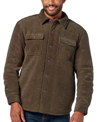 Free Country Men's Adirondack Chill Out Fleece Overshirt - Olive - S