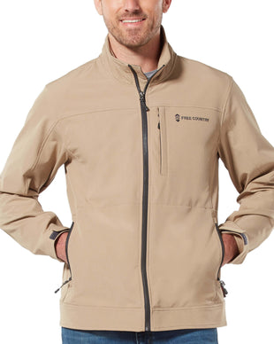 Free Country Men's Signature Cruiser Lightweight Softshell Jacket - Desert Khaki - S