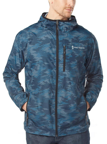 Free Country Men's Agile Windshear Jacket - Navy Camo - S
