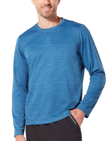 Free Country Men's Backcountry Crew Neck - Bright Blue - S