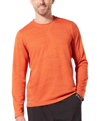 Free Country Men's Backcountry Crew Neck - Cayenne - S