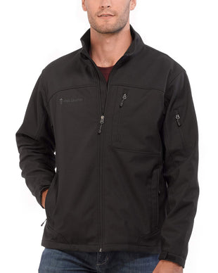 Free Country Men's Big and Tall Base Camp Softshell Jacket - Black - 3XL