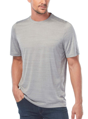 Free Country Men's Baselayer Short Sleeve Crew Neck - Grey - M