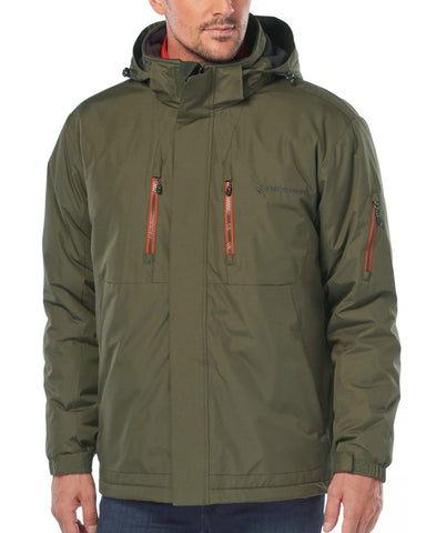Free Country Men's Big and Tall Blizzard 3-in-1 Systems Jacket - Dark Olive - 3XL