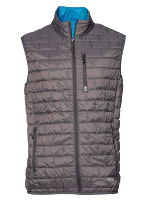 Free Country Men's Big and Tall Breakthrough Puffer Vest - Slate - 3X