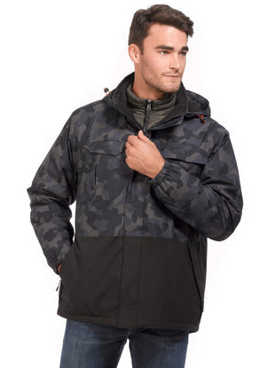Free Country Men's Big and Tall Explourer 3-in-1 Systems Camo Jacket - Unicamo - 3XL