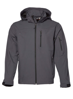 Free Country Men's Big and Tall Odyssey Super Softshell® Jacket - Charcoal - 3X