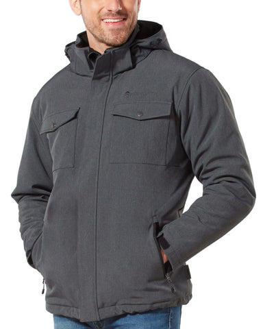 Free Country Men's Block Out Softshell Jacket - Charcoal - S