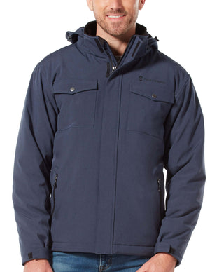 Free Country Men's Block Out Softshell Jacket - Indigo - S