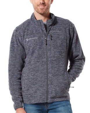 Free Country Men's Brumal Melange Fleece Jacket - Cement - S
