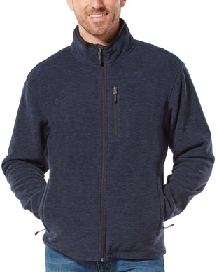 Free Country Men's Brumal Melange Fleece Jacket - Navy - S