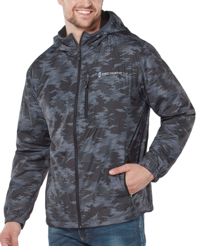 Free Country Men's Camo Backroad Windshear Jacket - Charcoal Camo - S
