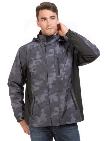 Free Country Men's Camo Hailstorm 3-in-1 Systems Jacket - Charcoal Camo
