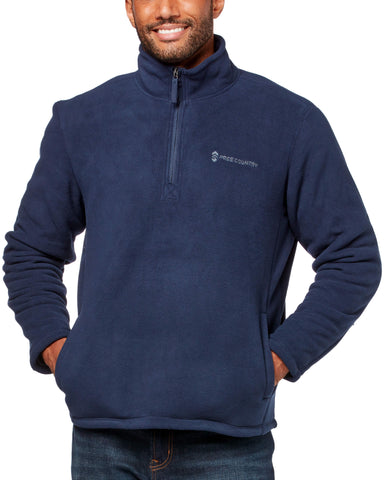 Free Country Men's Campfire 1/2 Zip Fleece Mock - Solar Blue - S