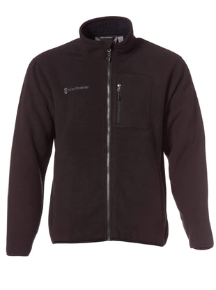 Free Country Men's Campfire Full Zip Fleece Jacket - Black - S