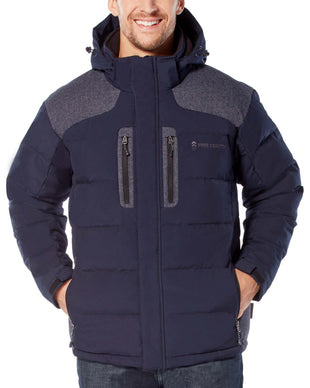 Free Country Men's Cliffhanger Down Quilted Jacket - Navy - S