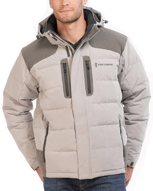 Free Country Men's Cliffhanger Down Quilted Jacket - Stone - S