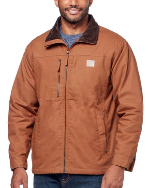 Free Country Men's Cotton Canvas Workwear Jacket - Canyon Brown - S