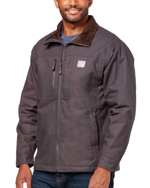 Free Country Men's Cotton Canvas Workwear Jacket - Charcoal - S