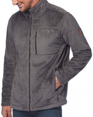 Free Country Men's Crafton Venture Pile Jacket - Deep Charcoal - S