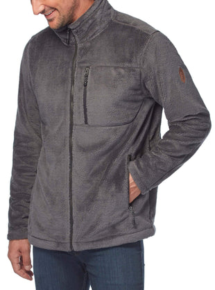 Free Country Men's Big and Tall Crafton Venture Pile Jacket - Deep Charcoal - 3XL