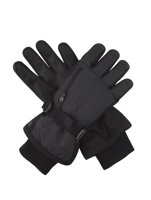 Free Country Men's Cubic Dobby Ski Gloves - Charcoal - S/M