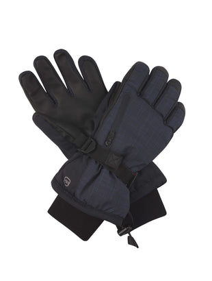 Free Country Men's Cubic Dobby Ski Gloves - Navy - S/M