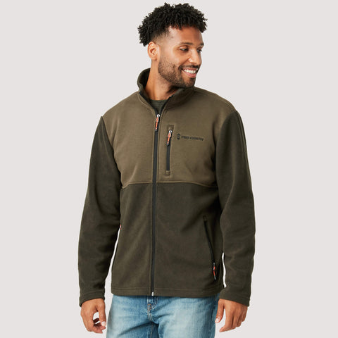 Free Country Men's Curly Fleece Jacket - Olive - S