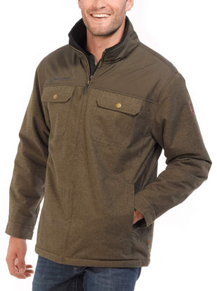 Free Country Men's Elm Flannel Shirt Jacket - Military Green - S