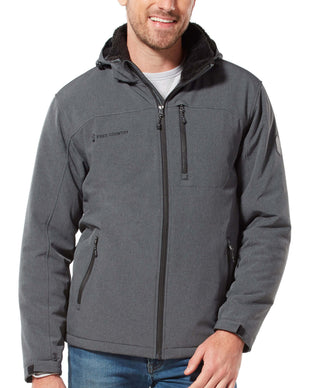 Free Country Men's Extra Mile Mid Weight Softshell Jacket - Charcoal - S