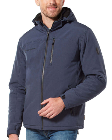 Free Country Men's Extra Mile Mid Weight Softshell Jacket - Indigo - S