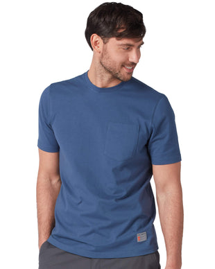Free Country Men's Force Cotton Tee - Denim - S