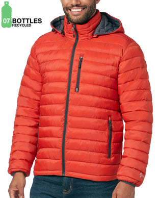 Free Country Men's FreeCycle™ Essential Puffer Jacket - Fire Brick - S
