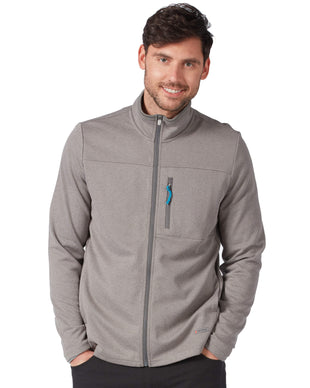 Free Country Men's FreeCycle™ Double Knit Full Zip Fleece Jacket - Grey - S