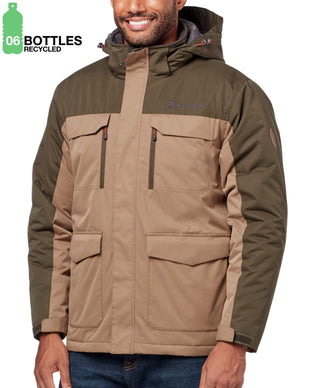 Free Country Men's FreeCycle™ Wanderlust Parka Jacket - Tan - S