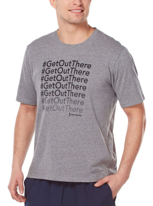 Free Country Men's Fresh Air Fund #GetOutThere Tee - Light Charcoal - S