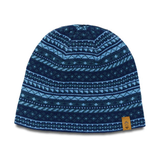 Free Country Men's Geometric Jacquard Knit Beanie - Blue - O/S