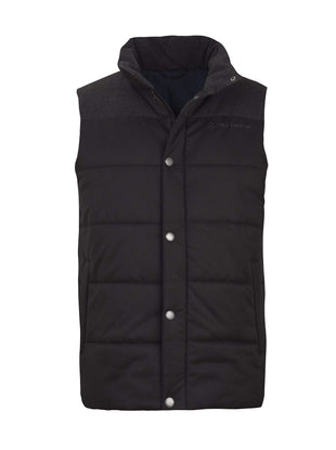 Free Country Men's Grizzly Quilted Vest - Jet Black - S