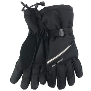 Free Country Men's Heather Ski Glove - Black - L/XL