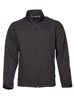 Free Country Men's Big and Tall Intrepid Super Softshell® Jacket - Black - 3XL