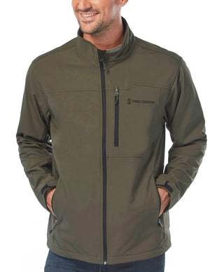 Free Country Men's Intrepid Super Softshell® Jacket - Dark Olive - S