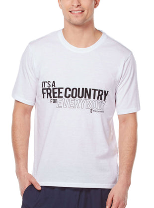 Free Country Men's It's A Free Country Tee - White - S