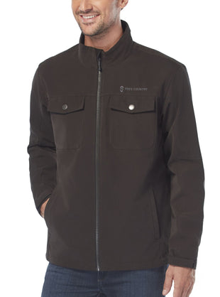 Free Country Men's Journeyman's Sueded Softshell Jacket - Black - M