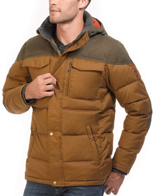 Free Country Men's Keystone Down Quilted Jacket - Golden Brown - S