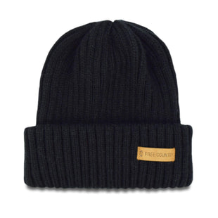Free Country Men's Knit Cuffed Shoreman Beanie - Black - O/S